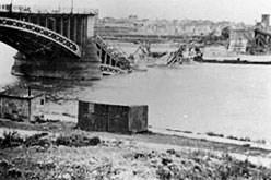 gesprengte Rheinbrücke